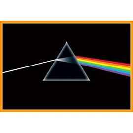Poster encadré: Pink Floyd - Dark Side Of The Moon, Prisme (91x61 cm), Cadre Plastique, Orange