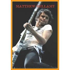Poster encadré: Muse - Matthew Bellamy Live (91x61 cm), Cadre Plastique, Orange