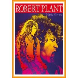 Poster encadré: Robert Plant - Manic Nirvana (91x61 cm), Cadre Plastique, Orange