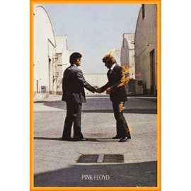 Poster encadré: Pink Floyd - Wish You Were Here (91x61 cm), Cadre Plastique, Orange