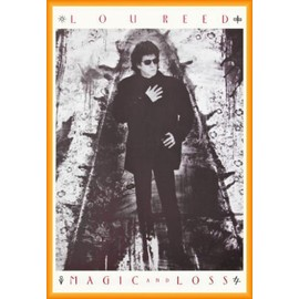 Poster encadré: Lou Reed - Magic And Loss (91x61 cm), Cadre Plastique, Orange