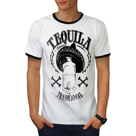 Tequila Traditionnel Homme T-shirt à sonnerie | Wellcoda