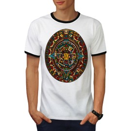 Aztec Traditionnel Men Ringer T-shirt | Wellcoda