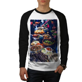Traditionnel Dîner Aliments Homme T-shirt à manches longues | Wellcoda