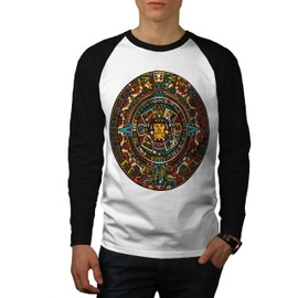 Aztec Traditionnel Men Baseball LS T-shirt | Wellcoda
