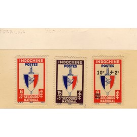 Timbres-poste d'Indochine (Secours national)