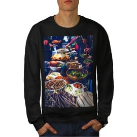 Traditionnel Dîner Aliments Homme Sweat-shirt | Wellcoda
