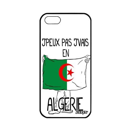 Coque iPhone 5 5S SE silicone j'peux pas j'vais en algerie case algerien a Apple iPhone 5 iPhone 5S iPhone SE