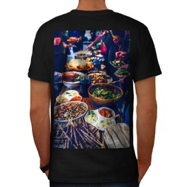 Traditionnel Dîner Aliments Homme T-shirt le dos | Wellcoda