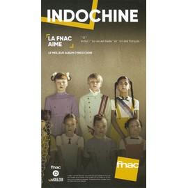 PLV cartonnée rigide 14x25cm INDOCHINE 13 / magasins FNAC