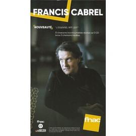 PLV cartonnée rigide 14x25cm FRANCIS CABREL l'essentiel 1977-2017 / magasins FNAC