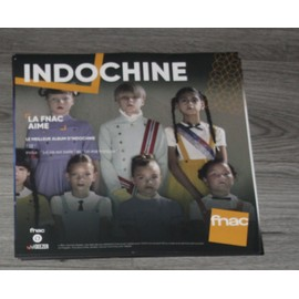PLV 30x30cm souple INDOCHINE 13 / magasins FNAC 2017