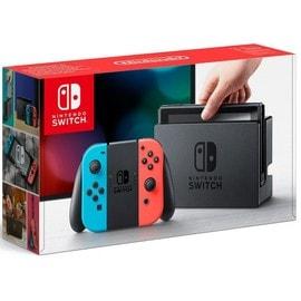 Image Nintendo Switch Avec Joy Con Rouge Fluorescent Et Bleu Néon