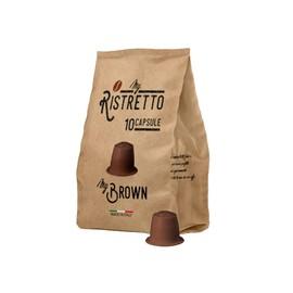 100 Capsules De Café Compatibles Nespresso Nespresso 100 X Dosettes / Capsules De Café Nespresso Café Mybrown Myristretto