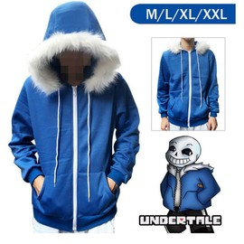 Pull Undertale Sans Hoodie Jacket Hooded Winter Coat Sweater Cosplay Costume