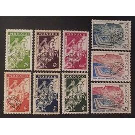 monaco préoblitéré Y&T N° 11 et + Lot de 9 timbres de 1954-64