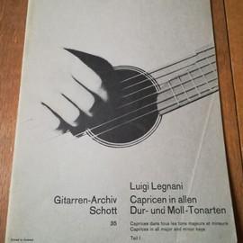 Luigi Legnani, Caprices dans tous les tons majeurs et mineurs pour guitare