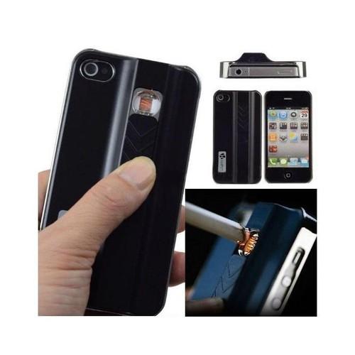 Coque - Couverture pour Iphone 4 / 4S / 5 / 5s avec briquet intégré - Noir - Iphone 5/s