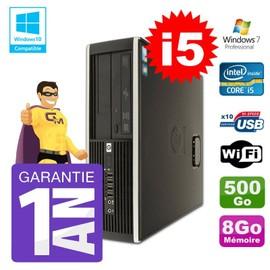 PC HP 8200 SFF Intel I5-2400 8Go Disque 500Go Graveur Wifi W7