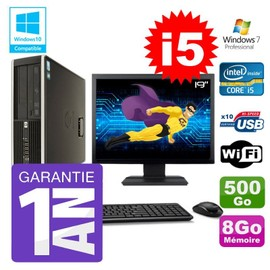 PC HP 8200 SFF Intel I5-2400 8Go Disque 500Go Graveur Wifi W7 Ecran 19 quot;