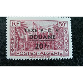 TIMBRE FRANCE ALGERIE ( YT T27 ) 1944 Timbre taxe
