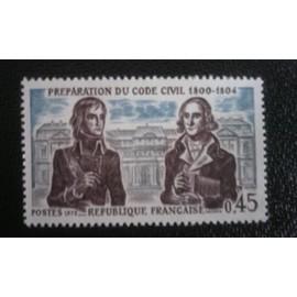 TIMBRE FRANCE ( YT 1774 ) 1973 Préparation du Code civil 1800-1804