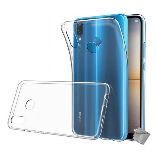 Housse coque silicone gel fine pour Huawei P20 Lite verre trempe TRANSPARENT TPU