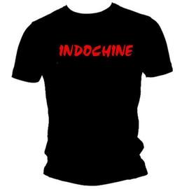 T-shirt indochine noir pour homme taille S M L XL 2XL 3XL