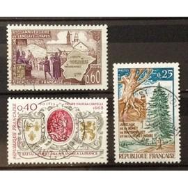 Thèmes Stamp Timbre France Oblitere N° 1562 Enclave Papale De Valreas