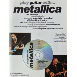play guitar with ... metallica volume 1 avec cd