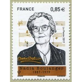 france 2017, très bel exemplaire neuf** luxe yvert 5169, nadia boulanger, pianiste, organiste, chef de chœur, chef d'orchestre et compositrice française.