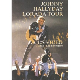 JOHNNY HALLYDAY PLAQUETTE 3 VOLETS LORADA TOUR LA VIDEO