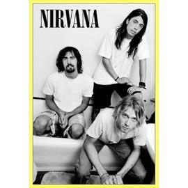 Poster encadré: Nirvana - Bathroom (91x61 cm), Cadre Plastique, Jaune