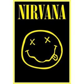 Poster encadré: Nirvana - Smiley (91x61 cm), Cadre Plastique, Jaune
