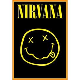 Poster encadré: Nirvana - Smiley (91x61 cm), Cadre Plastique, Orange