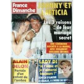 "Johnny Hallyday "" France dimanche """