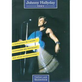 JOHNNY HALLYDAY / TOUR 93 PUB POUR MERCHANDISING