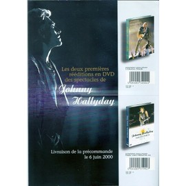 JOHNNY HALLYDAY/PUB POUR REEEDITION EN DVD DES SPECTACLES