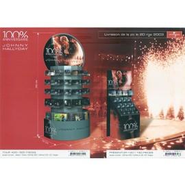 JOHNNY HALLYDAY / 100% ANNIVERSAIRE / PUB POUR TOUR CD