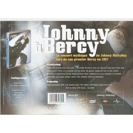 JOHNNY HALLYDAY / PUB POUR DVD BERCY 87