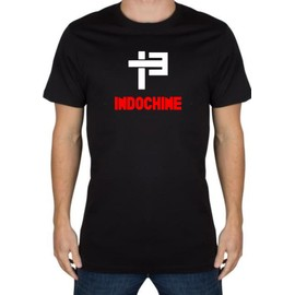 T-shirt Fruit of the Loom tee shirt indochine Coton L Noir