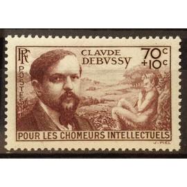 Chômeurs Intellectuels Debussy 70c+10c brun (Impeccable n° 437) Neuf** Luxe (= Sans Trace de Charnière) - Cote 12,00€ - France Année 1939 - N20762