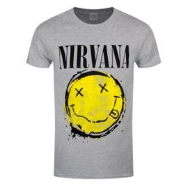 Nirvana T-Shirt Splat Homme Gris