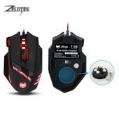 Zelotes T90 USB Filaire Ordinateur souris Optique Mause de Jeu 9200 DPI 8  boutons Poids Tuning 645023ed6abc