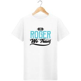 T-Shirt tennis in roger federer we trust pour homme