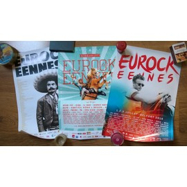 EUROCKEENNES lot 3 affiches et 1 Metallica