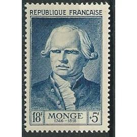 Gaspard Monge, comte de Peluse. Mathématicien 1953 n° 948 avec charnière*