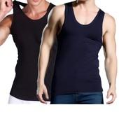 63cff37db56 Débardeur Homme Lot De 2 Sans Manche T-Shirt Stretch Coton Couleur Unie Tee  Shirt