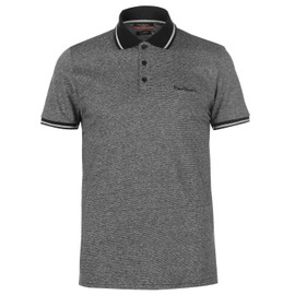 Pierre Cardin Pin Polo T-Shirt Rayé Top Manche Courte Hommes