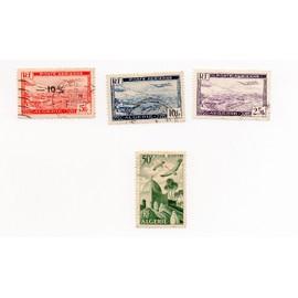 Algérie- Lot de 4 timbres oblitérés Poste aérienne